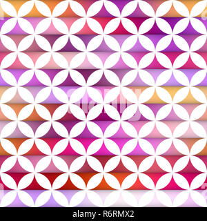 Vector Seamless Colorful Stripes Gradient  Stars And White Circle Tiling Pattern - Stock Photo