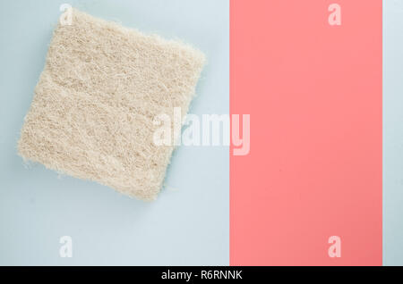 organic materials wall insulation panel sample- energy saving concept - Stock Photo