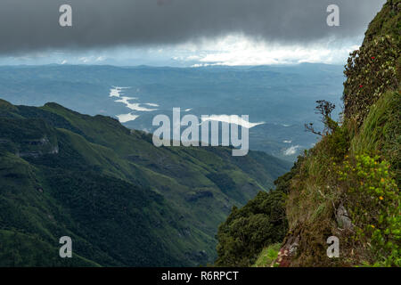 Great World's End, Horton Plains National Park, Sri Lanka - Stock Photo