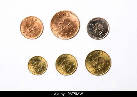 Coins from Ghana - Stock Photo