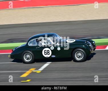 Marc Gordon, Jaguar XK150, Stirling Moss Trophy, Silverstone Classic 2015, Chris McEvoy, cjm-photography, Classic Racing Cars, historic racing cars, H - Stock Photo