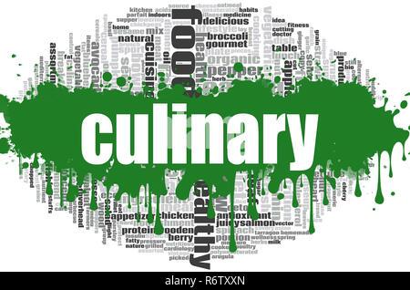 Culinary word cloud - Stock Photo