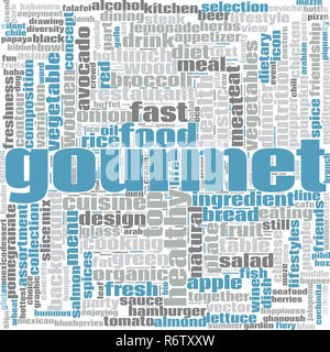 Gourmet word cloud - Stock Photo