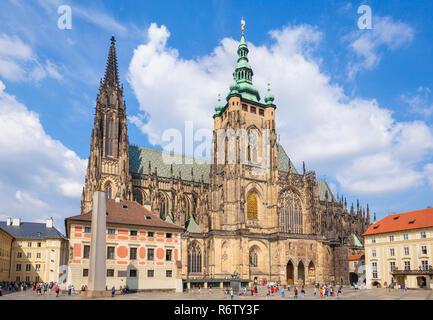 Prague St. Vitus Cathedral Great south tower of the cathedral Katedrála Sv. Víta third courtyard Prague castle Prague Czech Republic Europe