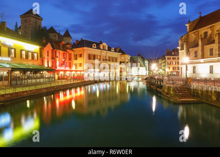 Annecy, called Venice of the Alps, France - Stock Photo