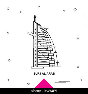 BURJ AL ARAB - Stock Photo