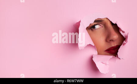 Angry grumpy young girl. Strong, strict and skeptical emotions. Understand body language and facial expressions. Psychology concept. - Stock Photo