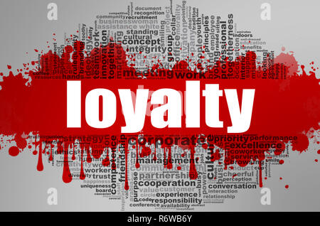 Loyalty word cloud - Stock Photo