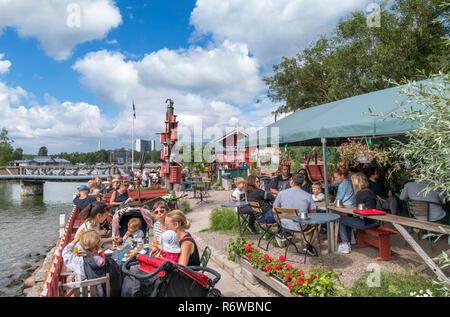 The Cafe Regatta on the waterfront in Töölö, Helsinki, Finland - Stock Photo