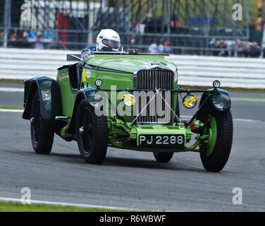 John Polson, Michael Strauss, Talbot AV 105, Brooklands Special, PJ 2288, Kidston Trophy, Silverstone Classic 2015, Chris McEvoy, circuit racing, cjm- - Stock Photo