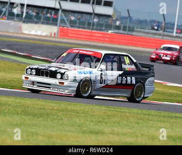 Tom Houlbrook, BMW E30, M3, Super touring car trophy, Silverstone Classic 2015, Chris McEvoy, circuit racing, cjm-photography, Classic, Classic Racing - Stock Photo