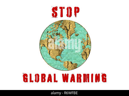 Stop Global Warming, a conceptual image symbolising effects of drastic change in climate and environment of our planet