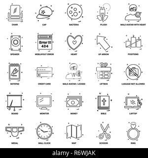 25 Business Concept Mix Line Icon set - Stock Photo