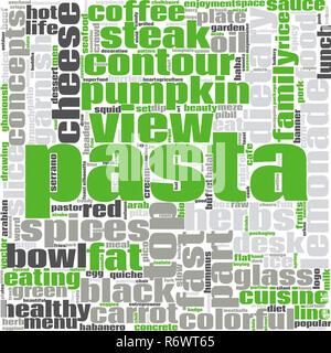 Pasta word cloud - Stock Photo