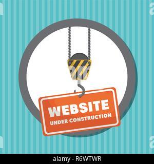 website under construction banner vector illustration design - Stock Photo