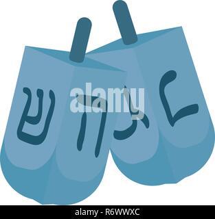 Jewish dreidel hanukkah icon vector illustration design - Stock Photo