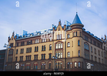 Winter view of Tampere, a city in Pirkanmaa, southern Finland - Stock Photo