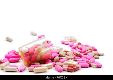 Pink pills - Stock Photo