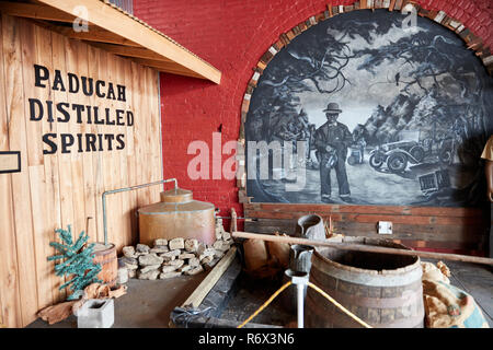 The Moonshine Company distillery in Paducah, Kentucky - Stock Photo