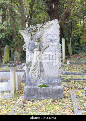 Old tombstones at Highgate cemetery, London, England - Stock Photo