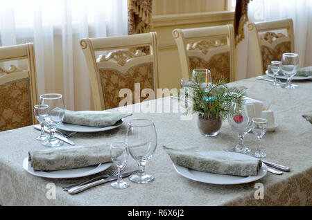 Interior fragment at restaurant - Stock Photo