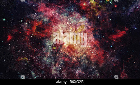 High definition star field background. Elements of this image furnished by NASA. - Stock Photo