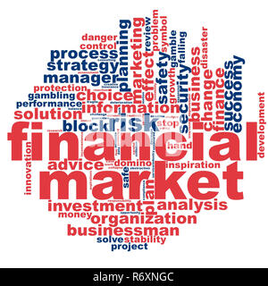 Financial market word cloud - Stock Photo