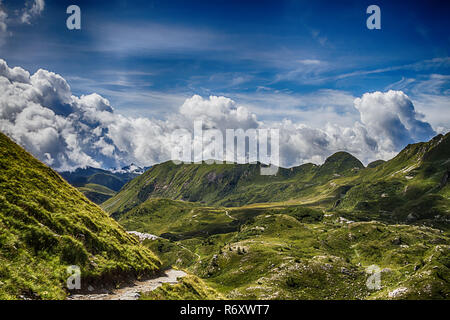 beautyfull mountain landscape. alps montains in bagolino,province of brescia,italy. - Stock Photo