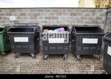 Dust bin containers - Stock Photo