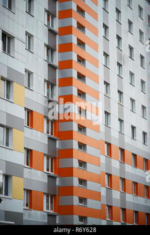 plattenbau as a residential building in the city center of magdeburg - Stock Photo