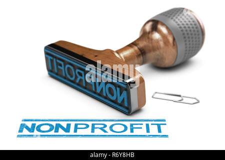 Nonprofit Organization or Association, Rubber Stamp Over White Background - Stock Photo