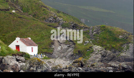 niarbyl bay on the isle of man - Stock Photo