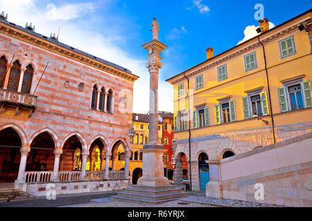 Piazza della Liberta square in Udine landmarks view - Stock Photo