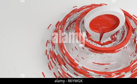 hit the target and be on top concept isolated on white 3d rendering - Stock Photo