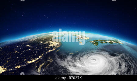 Asia from space. 3d rendering - Stock Photo