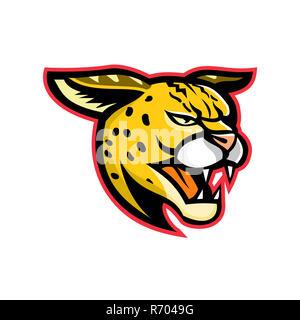 Serval Wild Cat Mascot - Stock Photo