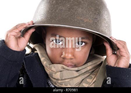 Boy soldier - Stock Photo