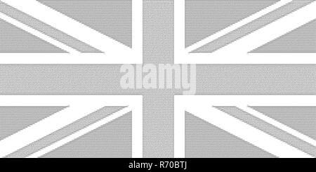 ASCII art flag of the United Kingdom (UK) aka Union Jack - Stock Photo
