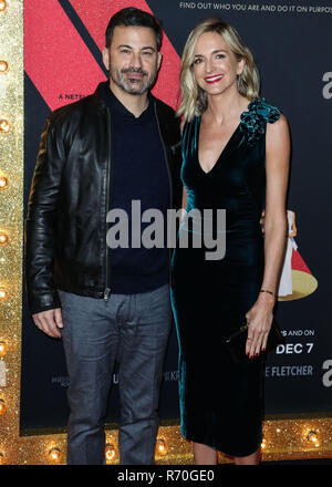 Hollywood, United States. 06th Dec, 2018. HOLLYWOOD, LOS ANGELES, CA, USA - DECEMBER 06: Television Host Jimmy Kimmel and wifeMolly McNearney arrive at the Los Angeles Premiere Of Netflix's 'Dumplin'' held at the TCL Chinese Theatre IMAX 6 on December 6, 2018 in Hollywood, Los Angeles, California, United States. (Photo by Xavier Collin/Image Press Agency) Credit: Image Press Agency/Alamy Live News - Stock Photo