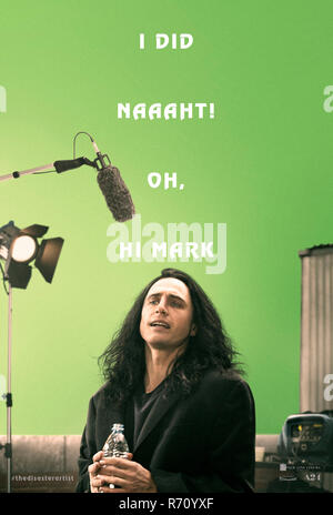 RELEASE DATE: December 8, 2017 TITLE: The Disaster Artist STUDIO: New Line Cinema DIRECTOR: James Franco PLOT: When Greg Sestero, an aspiring film actor, meets the weird and mysterious Tommy Wiseau in an acting class, they form a unique friendship and travel to Hollywood to make their dreams come true. STARRING: JAMES FRANCO as Tommy / Johnny. (Credit Image: © New Line Cinema/Entertainment Pictures) - Stock Photo