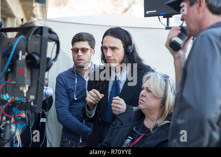 RELEASE DATE: December 8, 2017 TITLE: The Disaster Artist STUDIO: New Line Cinema DIRECTOR: James Franco PLOT: When Greg Sestero, an aspiring film actor, meets the weird and mysterious Tommy Wiseau in an acting class, they form a unique friendship and travel to Hollywood to make their dreams come true. STARRING: JAMES FRANCO on set. (Credit Image: © New Line Cinema/Entertainment Pictures) - Stock Photo