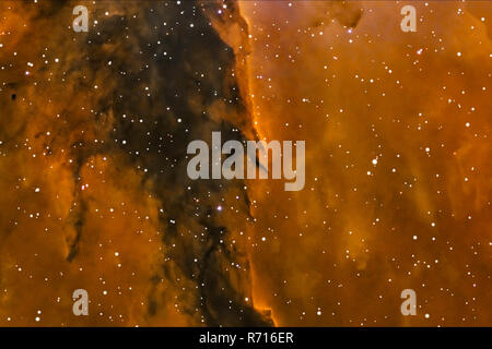 Fog in space, star dust, a space object computer animation. - Stock Photo
