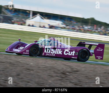 Christophe D'Ansembourg, Jaguar XJR14, Group C, Silverstone Classic 2015, Classic Racing Cars, Endurance racing, Group C, Historic Racing, historic ra - Stock Photo