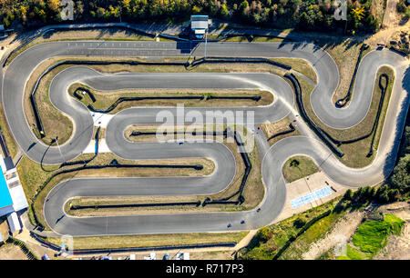Aerial view, Harz-Ring motor sports facility, Reinstedt, Saxony-Anhalt, Germany - Stock Photo