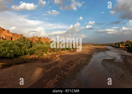 Ait Bennadou, the desert town used for movie making, near Ourzazate - Stock Photo