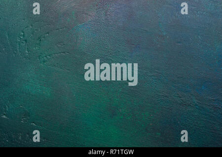 Dark green-blue painted wooden background. - Stock Photo