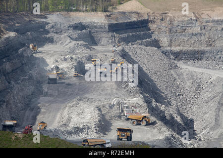Shotton Surface Mine is an open cast coal mine operated by Banks Group  near the A1 at Stannington in Northumberland. - Stock Photo