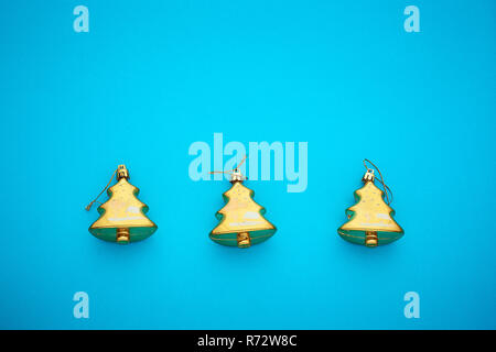 branch Christmas tree on a colored background, a place for text - Stock Photo