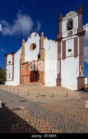 the Cathetral in the old town of Silves, Algarve, Portugal - Stock Photo
