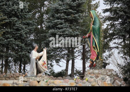 Our Lady of Guadalupe Shrine for Mexican immigrants and immigration in des Plaines, Illinois, Nuestra Señora de Guadalupe, Virgin of Guadalupe - Stock Photo